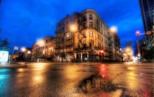 Фото обои Чикаго, Иллинойс, Chicago, Illinois, usa, Blue Hour