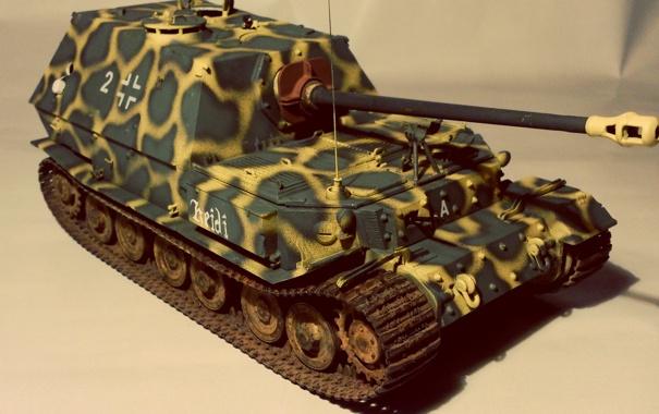 Фото обои игрушка, установка, элефант, моделька, самоходно-артиллерийская, немецкая, Еlefant
