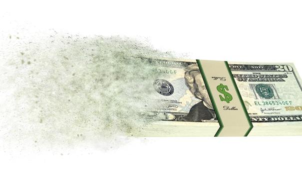 Фото обои money, expenses, equity disappears