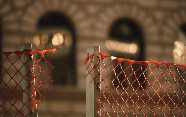 Фото обои макро, красная, решотка