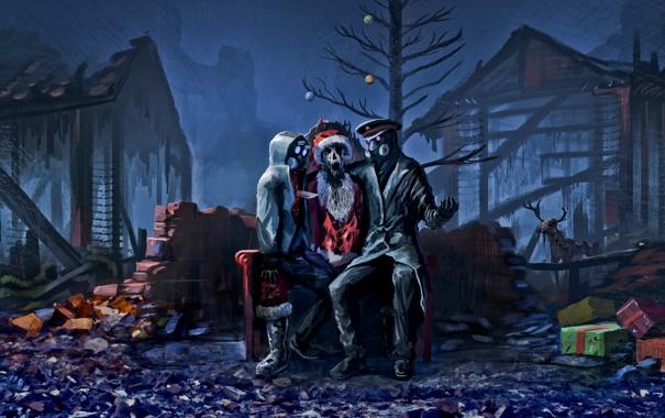 Фото обои рождество, christmas, санта клаус, xmas, alexiuss, apocalypse, zee captain