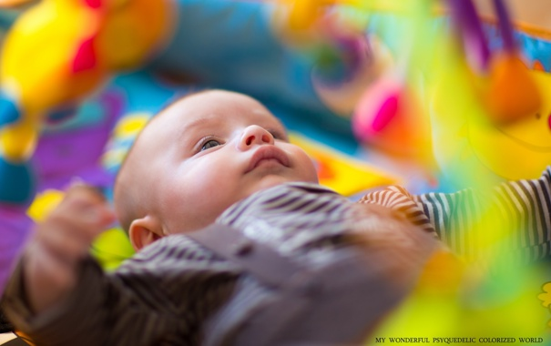 Фото обои цвет, младенец, натроение