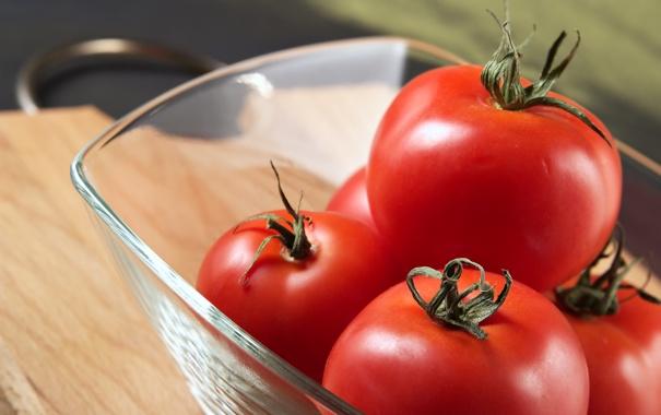 Фото обои еда, миска, помидоры