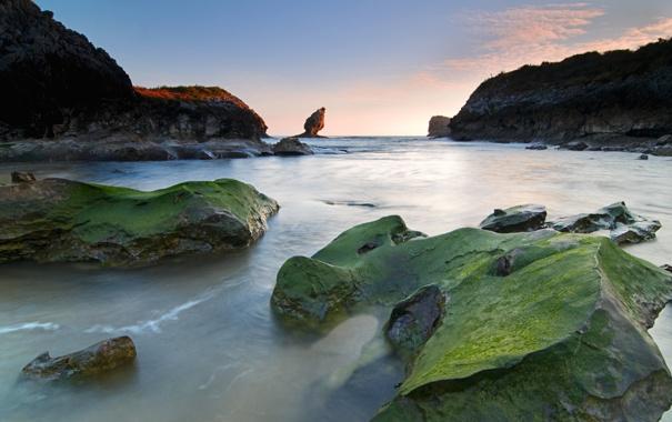 Фото обои море, камни, скалы