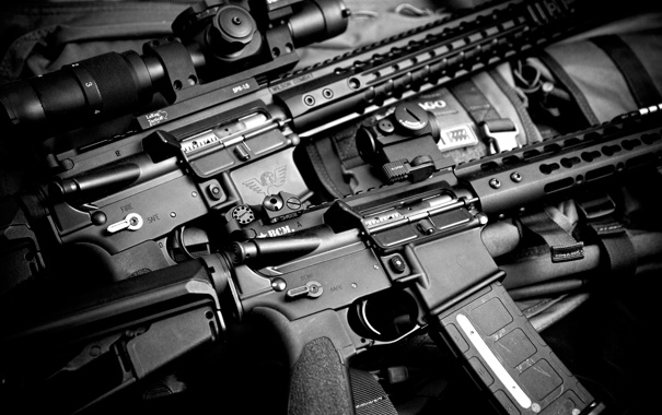 Фото обои оружие, фон, BCM, штурмовые винтовки