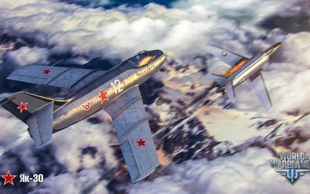 Фото обои облака, самолет, огонь, aviation, авиа, MMO, Wargaming.net