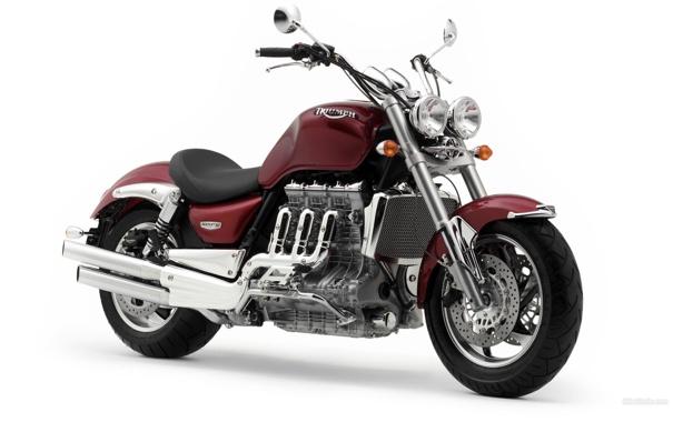 Фото обои мотоцикл, Триумф, круизёр