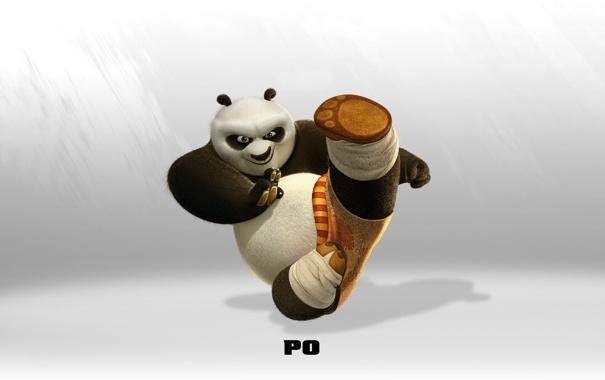Фото обои панда, кунг-фу