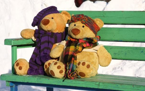 Фото обои любовь, ситуации, медведи, пара, прогулка, свидание