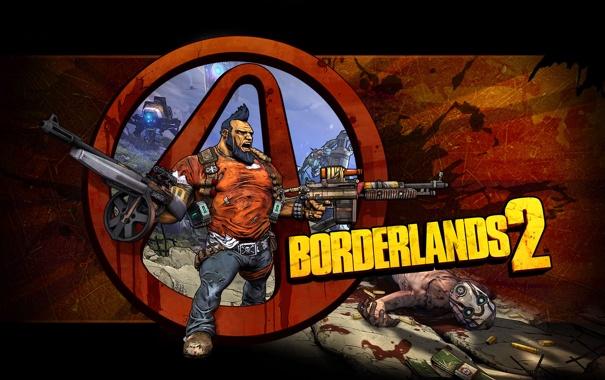 Фото обои оружие, пулеметы, качок, шутер, RPG, 2K Games, Borderlands 2