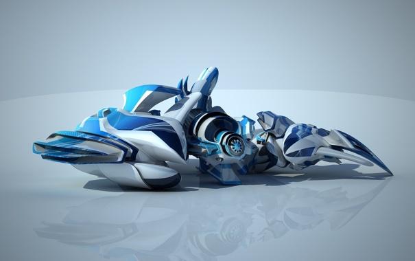 Фото обои отражение, нечто, трансформер, transformer blue