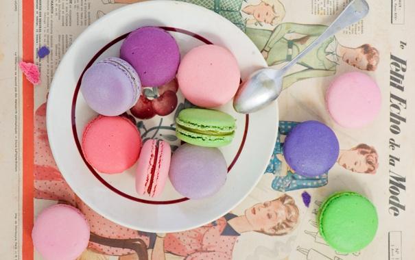 Фото обои печенье, ложка, сладости, десерт, выпечка, ассорти, Anna Verdina