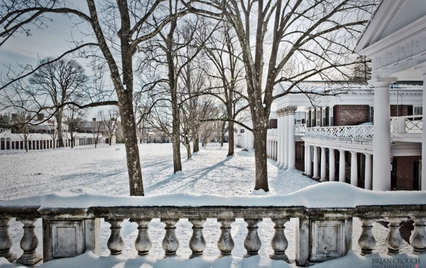 Фото обои зима, снег, архитектура