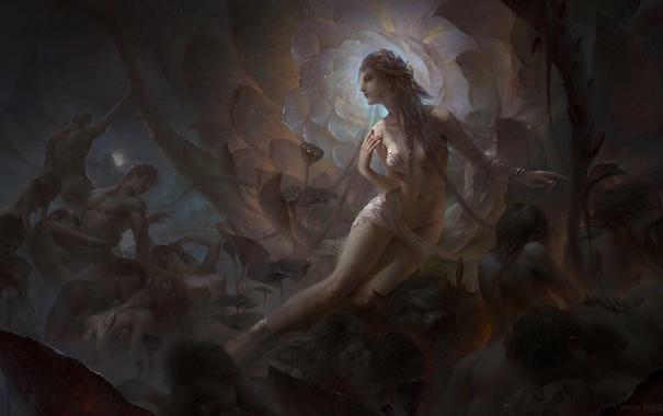 Фото обои цветок, девушка, люди, арт, тела, зодиак, Дева