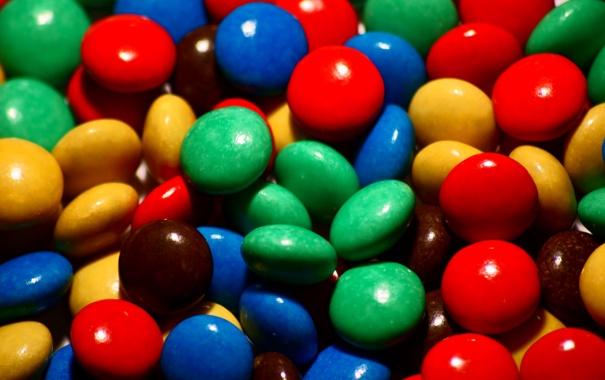 Фото обои конфеты, драже, глазурь