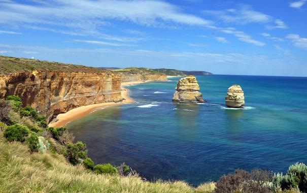 Фото обои камни, скалы, берег