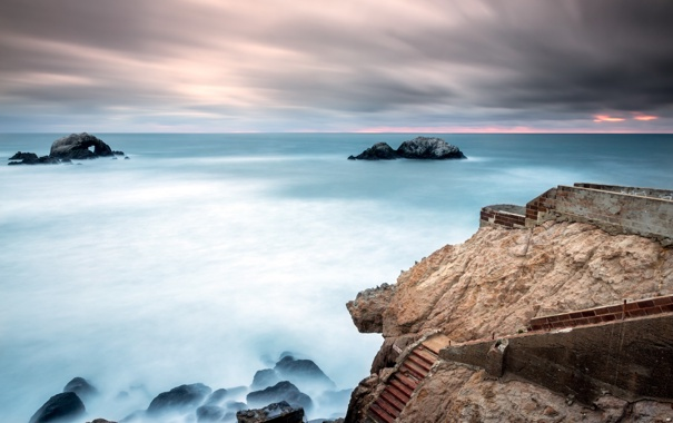 Фото обои море, пейзаж, United States, California, San Francisco, Outer Richmond