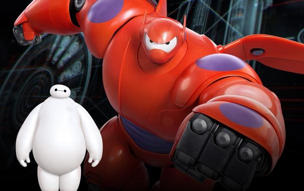 Фото обои мультфильм, Walt Disney Pictures, Big Hero 6, Baymax, Город героев
