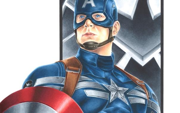 Фото обои art, Captain America, Steve Rogers, marvel comics