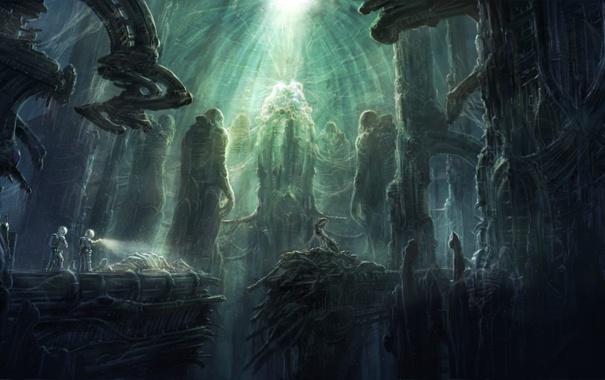 Фото обои фантастика, мир, затерянный, prometheus chamber, by radojavor
