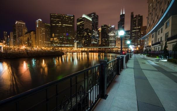 Фото обои Чикаго, USA, США, Chicago, Illinois, Штат Иллинойс, Wolf Point