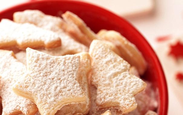 Фото обои звезда, печенье, сахар, Сладости, звездочка, пудра