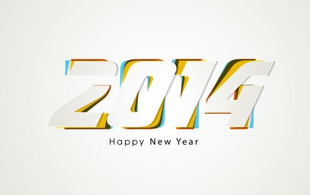 Фото обои праздник, обои, цифры, заставка, 2014