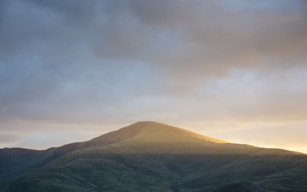 Фото обои пейзаж, природа, рассвет, гора