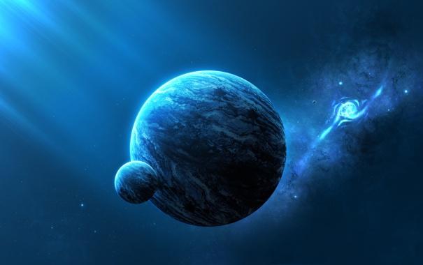 Фото обои свет, планеты, галактика