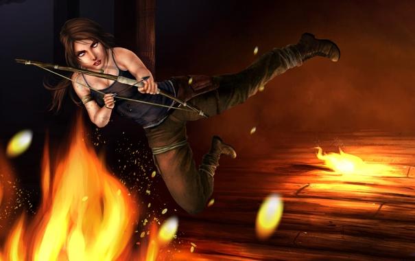 Фото обои девушка, лара крофт, Lara Croft, TombRaider, Contest