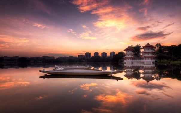 Фото обои sunrise, Chinese, Garden