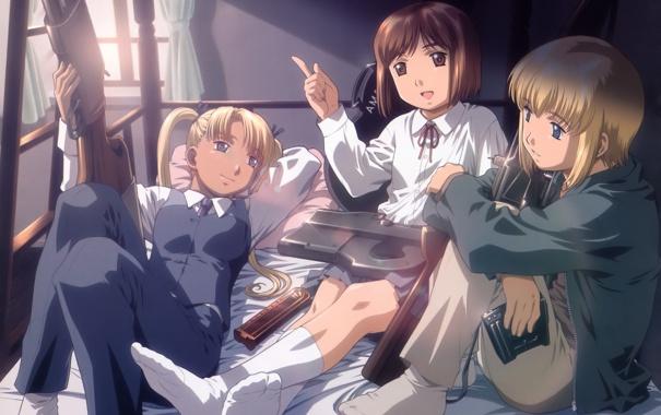 Фото обои Аниме, Gunslinger Girl, Henrietta, Школа Убийц