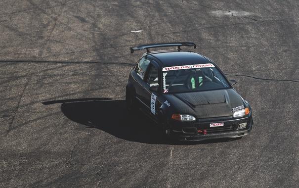 Фото обои honda, трек, хонда, civic, race, сивик