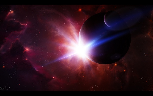 Фото обои космос, звезды, арт, space, nebula, art, stars