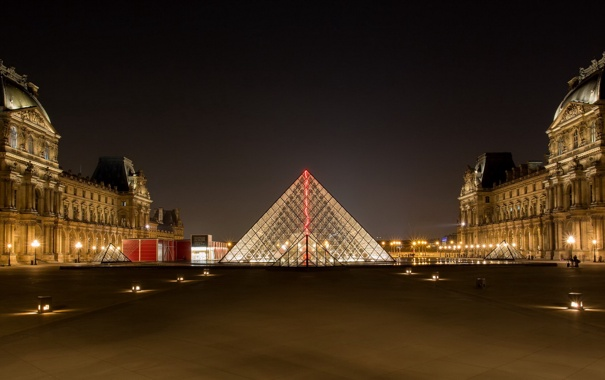 Фото обои Paris, France, Pyramide du Louvre