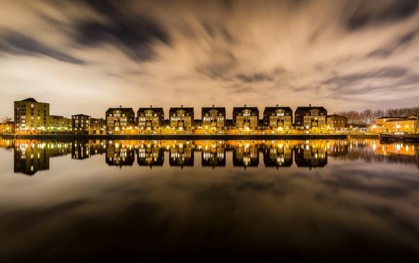 Фото обои London, England, United Kingdom, Dockside
