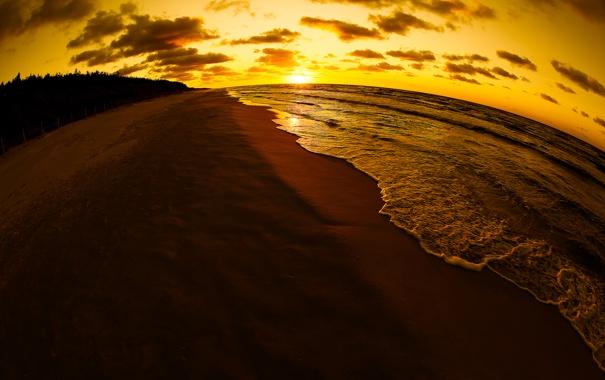 Фото обои закат, побережье, Балтийское море