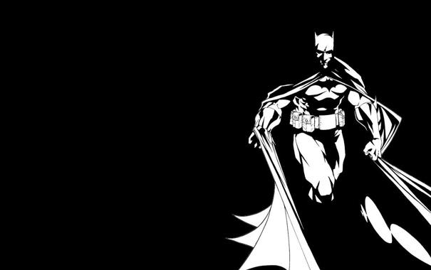 Фото обои рисунок, бэтмен, плащ, комикс