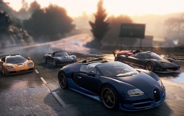 Фото обои McLaren, Lamborghini, Bugatti, Pagani, 2012, race, supercars