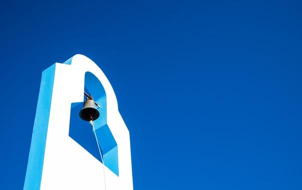 Фото обои лето, небо, Греция, колокол, Greece, Nysiros