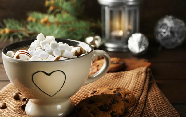 Фото обои шоколад, hot, cup, chocolate, какао, cocoa, зефир