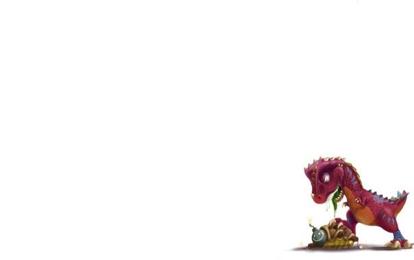 Фото обои черепаха, бомба, минимализм, панцирь, взрывчатка, динозаврик, salvador ramirez madriz