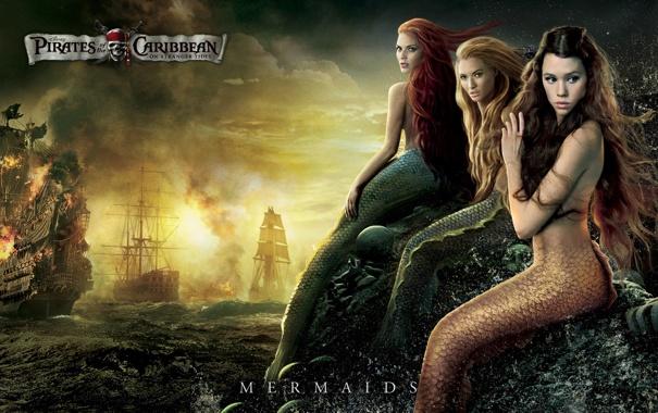 Фото обои Pirates of the Caribbean On Stranger Tides, русалки, Mermaid, Пираты Карибского моря На странных берегах
