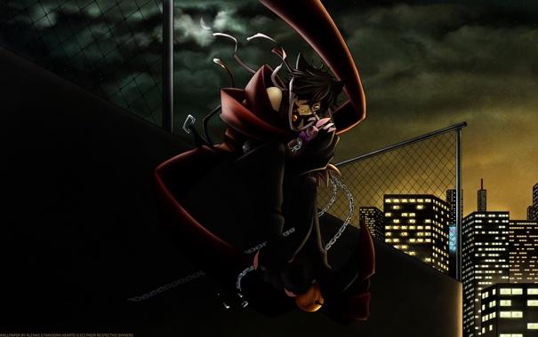 Фото обои ночь, город, настроение, аниме, pandora hearts