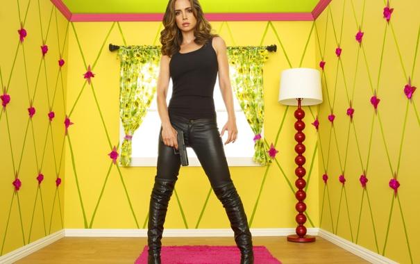 Фото обои Сериал, Eliza Dushku, в желтой комнате, Кукольный Дом