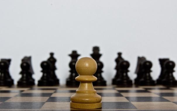 Фото обои макро, шахматы, пешка
