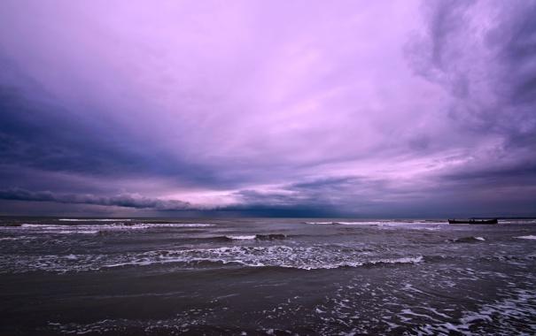 Фото обои Caspian Sea, небо, океан, Иран, Iran, лодки, море