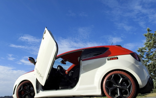 Фото обои авто, дверь, Alfa Romeo, MiTo, ракурс, Marangoni, M430