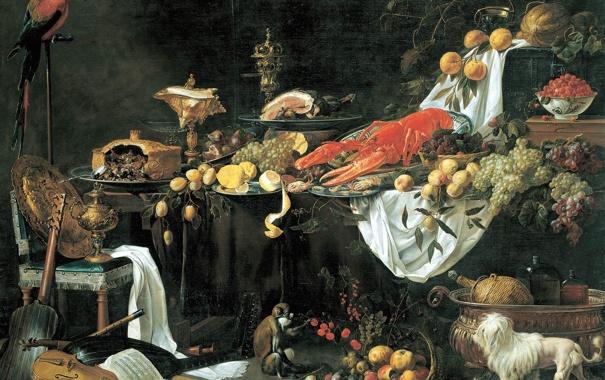 Фото обои картина, натюрморт, Adriaen van Utrecht