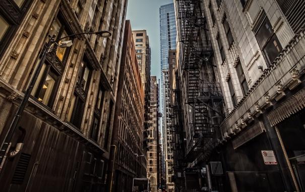 Фото обои город, улица, окна, дома, Чикаго, Chicago, Illinois